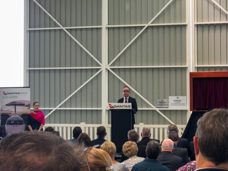 Allen Joyce speaking at lectern